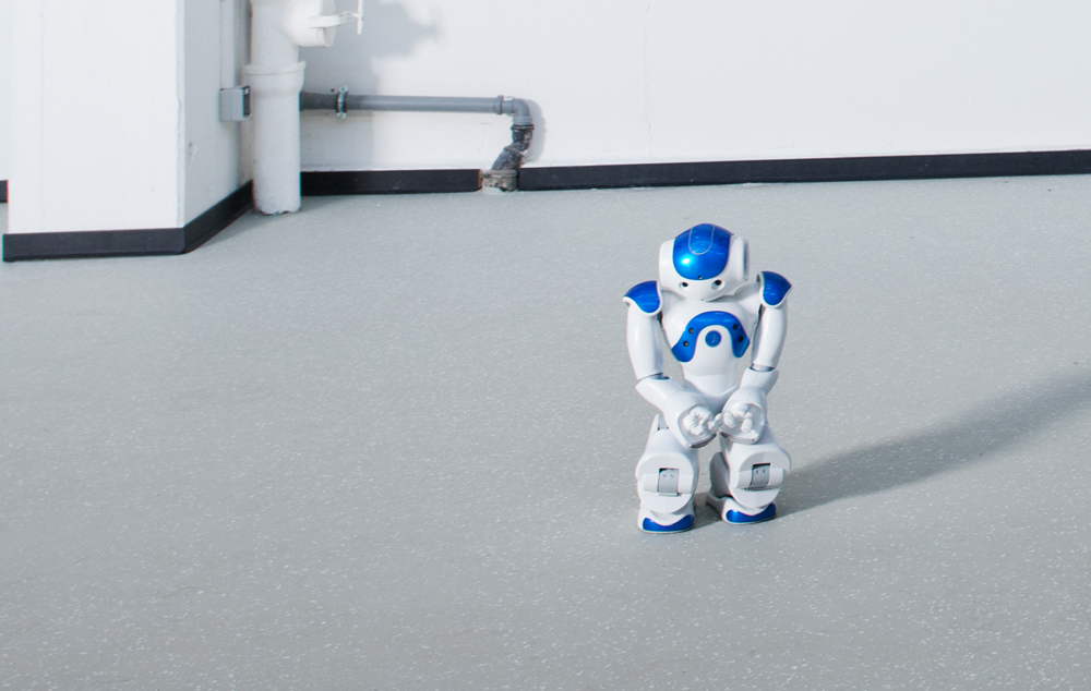Small robots in a white room