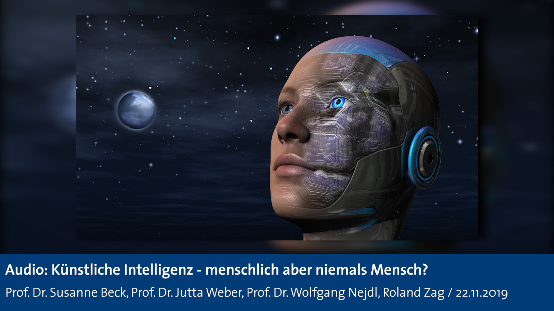 "Startfolie Audio Science Movie Night ""Künstliche Intelligenz"""