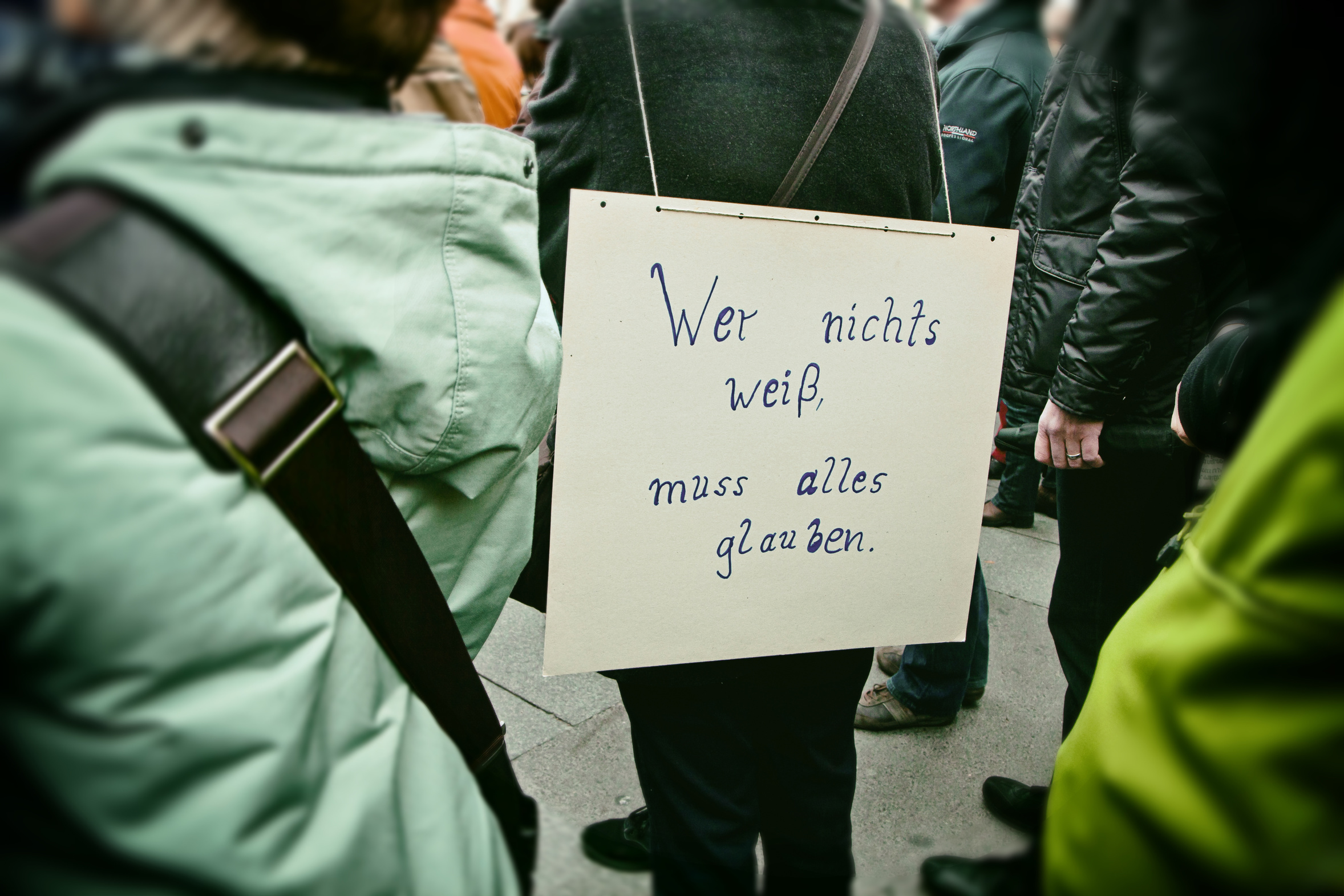 Plakat beim bundesweiten March for Science, 22. April 2017 (Foto: acrogame – fotolia.com)