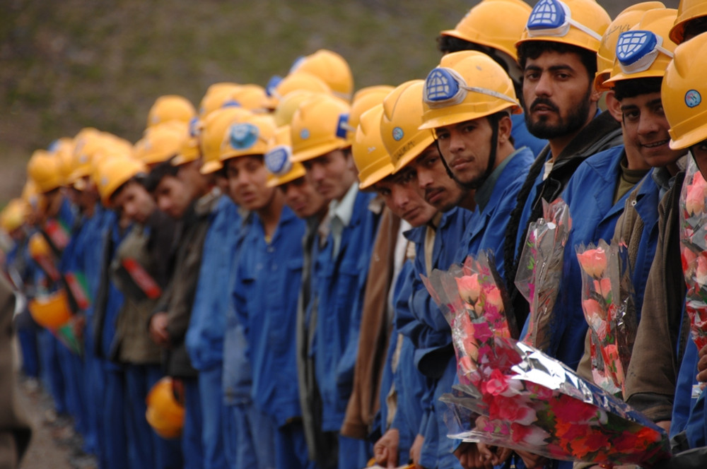 Workers in Afghanistan