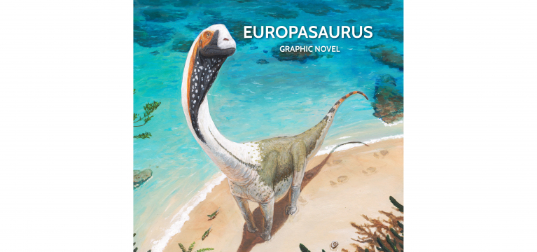 Europasaurus Illustration Graphic Novel Cover