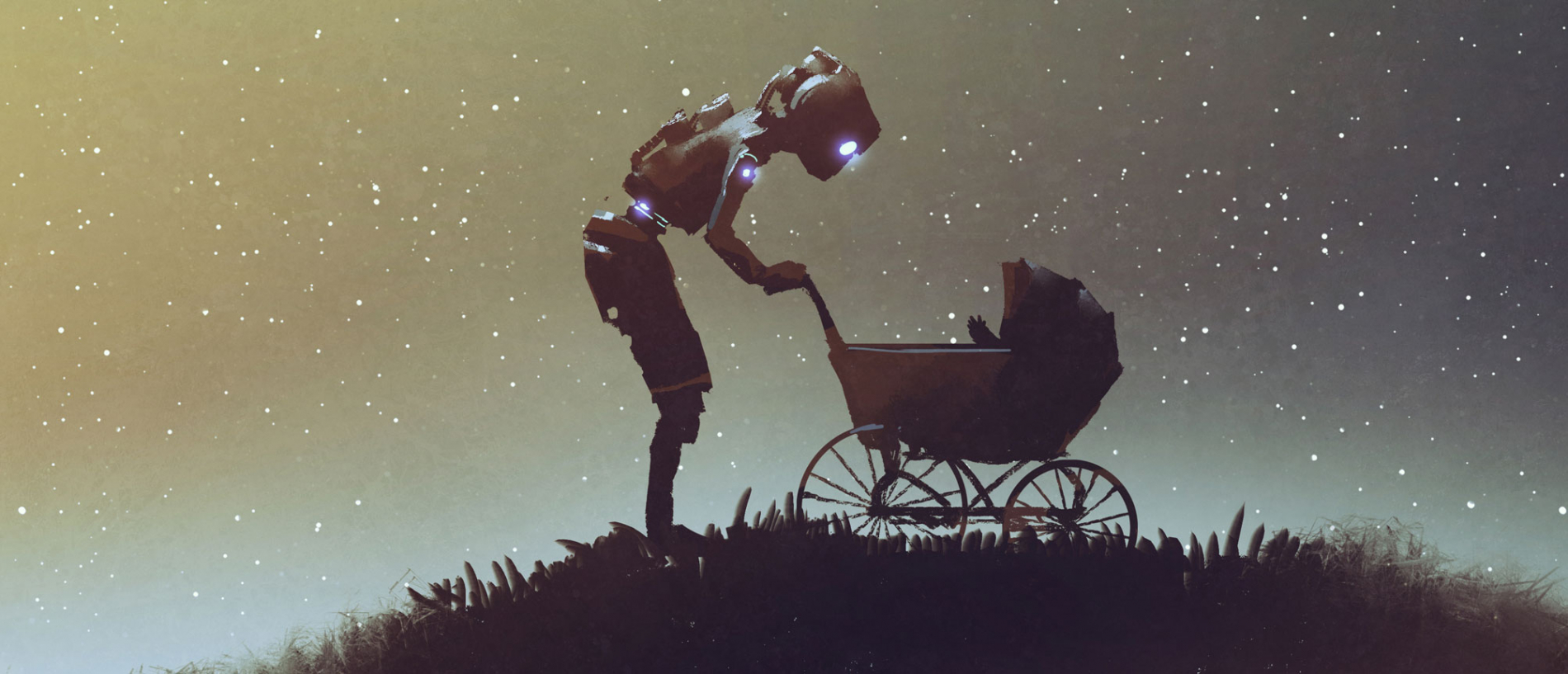 Robot with stroller