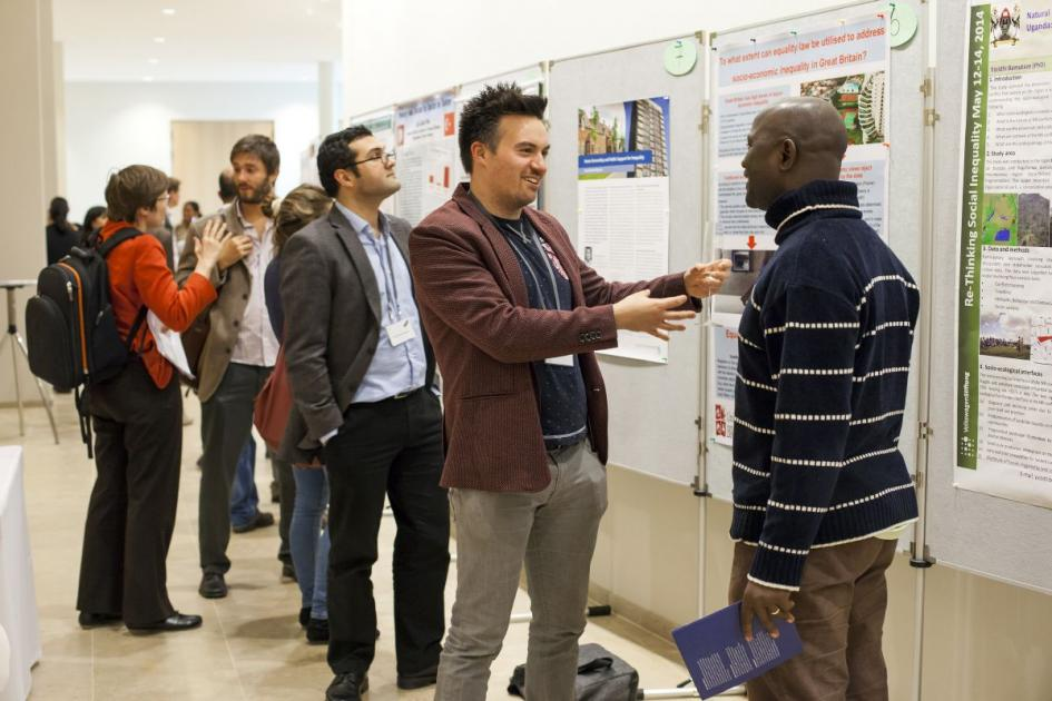 Exchanging views in front of the poster sessions