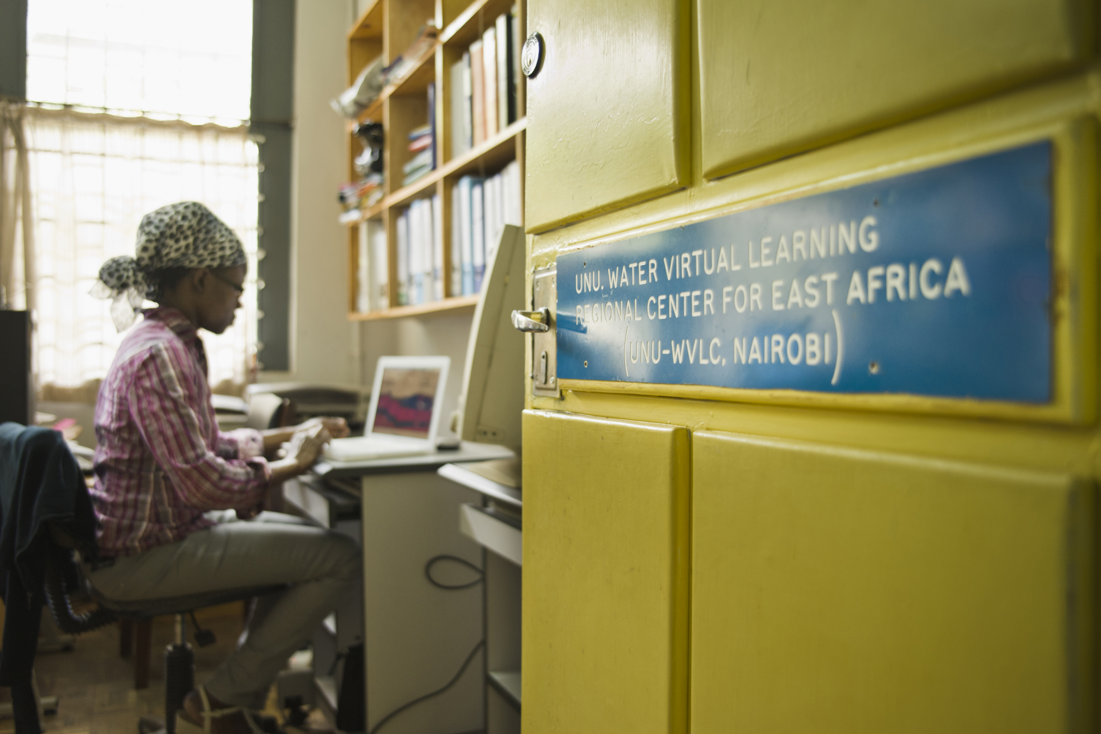 Lydia Olaka in her office