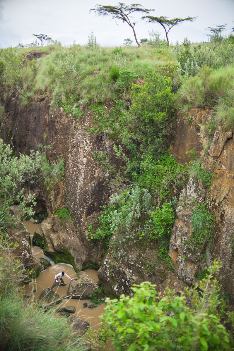 Lydia Olaka in a Canyon